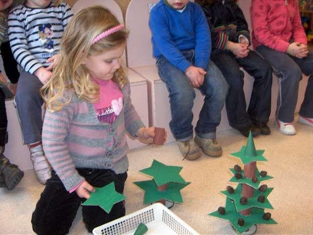 Begeleide of zelfstandige activiteiten - Kerstboom nabouwen