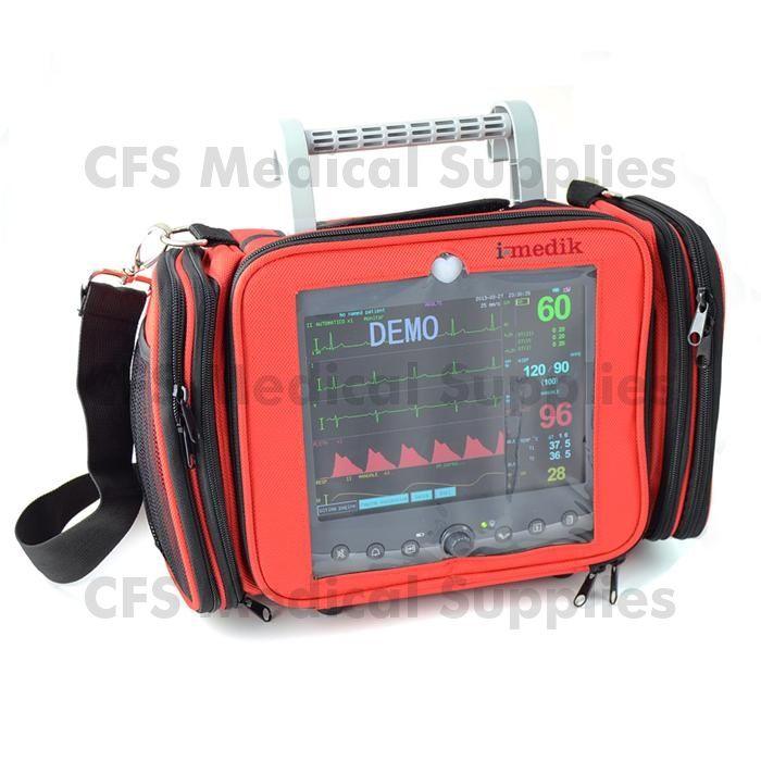"""Monitor multiparametrico I-MEDIK G3 Rescue + Stampante - SpO2, NIBP, ECG e TEMP. Completo di Presa 12 Volt con inverter per ambulanza, Borsa di trasporto con tracolla (specifica per emergenza) e Stampante incorporata - Monitor a colori LCD TFT da 8,4"""" Parametri: ECG - SPO2 - Pressione - Temperatura - Respiro , Traccia CRG. SPEDIZIONE GRATUITA. Link: https://www.cfs.it/diagnostica/monitor-multiparametrici/monitor-multiparametrico-i-medik-g3-rescue-stampante-spo2-nibp-ecg-e-temp"""