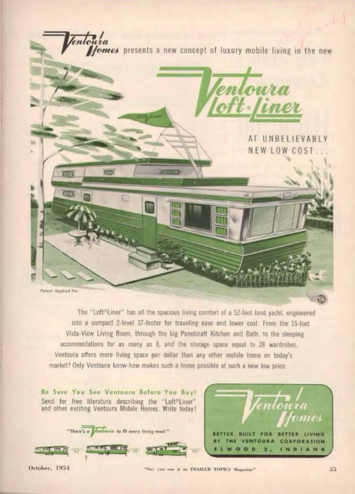 Ventoura Loft Liner Mobile Home Ad