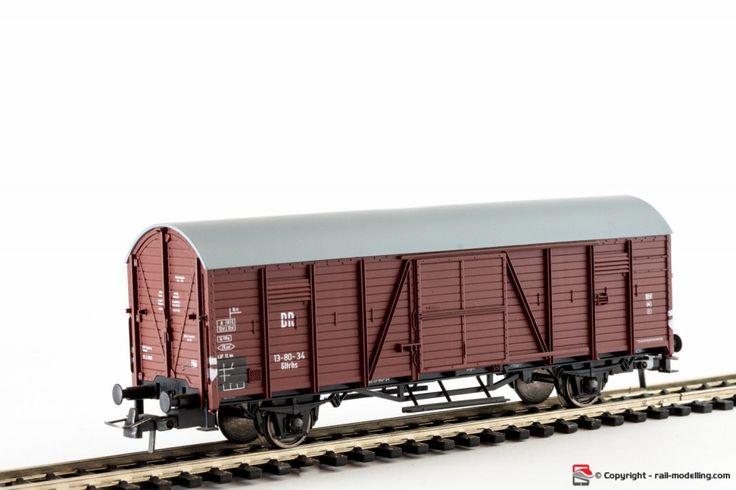 ROCO 46649 - H0 1:87 - Carro merci chiuso tedesco DR modello Gltrhs con confezione