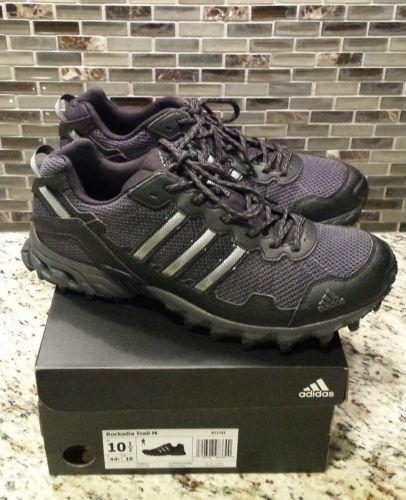 d717865a94c8a  Men  Shoes New Men s Adidas Rockadia Trail Shoes Black Gray Size 10.5  Men   Shoes