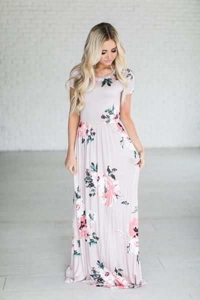 Evie Floral Maxi - Mauve