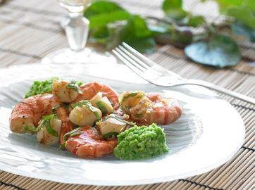 En let og lækker forret eller frokostret for alle skaldyrselskere