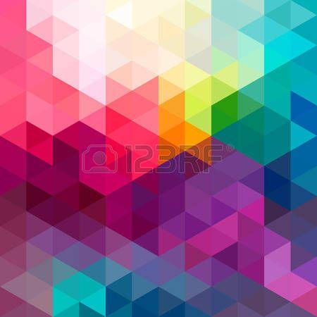 многоцветный: Абстрактные красочные геометрическим рисунком бесшовные фон с треугольниками и полигонов форм. Идеально подходит для веб-приложение и шаблон дизайна обложки ткани и подарочная упаковка.