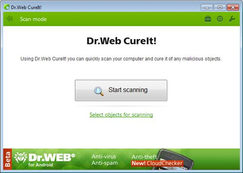 Dr.Web CureIt is a latest software, compatible with the latest window operating system, which has been developed to save your system from malicious attack.