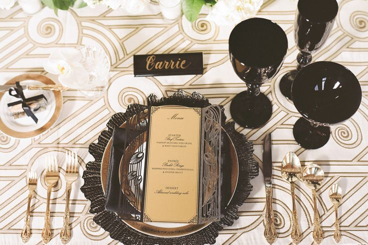 Gorgeous Great Gatsby Rehearsal Dinner Theme