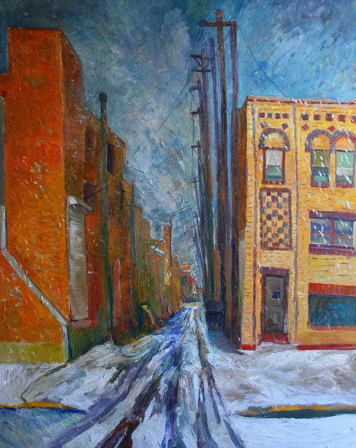 Chris easley gallup snow in alley the world of art pinterest