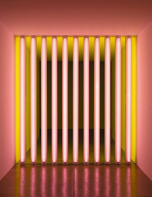 DAN FLAVIN, UNTITLED (TO BARRY MIKE CHUCK AND LEONARD) 1975.
