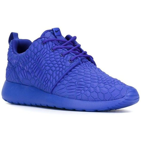 Nike Roshe One DMB Sneakers ($161) ❤ liked on Polyvore featuring shoes, sneakers, blue sneakers, crocs shoes, round cap, lacing sneakers and blue shoes