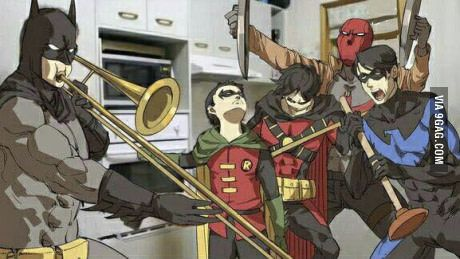 When Alfred isn't home - Visit to grab an amazing super hero shirt now on sale!
