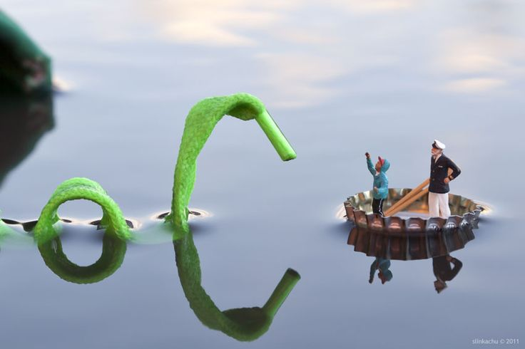 The satirical work of street artist Slinkachu of the Little People Project. http://little-people.blogspot.com/