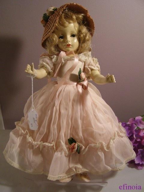 Vintage Madame Alexander Princess Margaret Rose Doll Hat Dress Original Tag