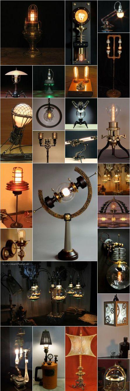 Steampunk lamps Mais