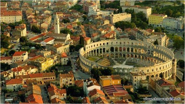 http://www.turystyka24.net/chorwacja/pula Amfiteatr w Puli na Istrii w Chorwacji