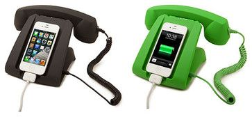 Talk Dock contemporary home electronics 36oo This whimsical phone stand combines the best of landlines and cell phones!