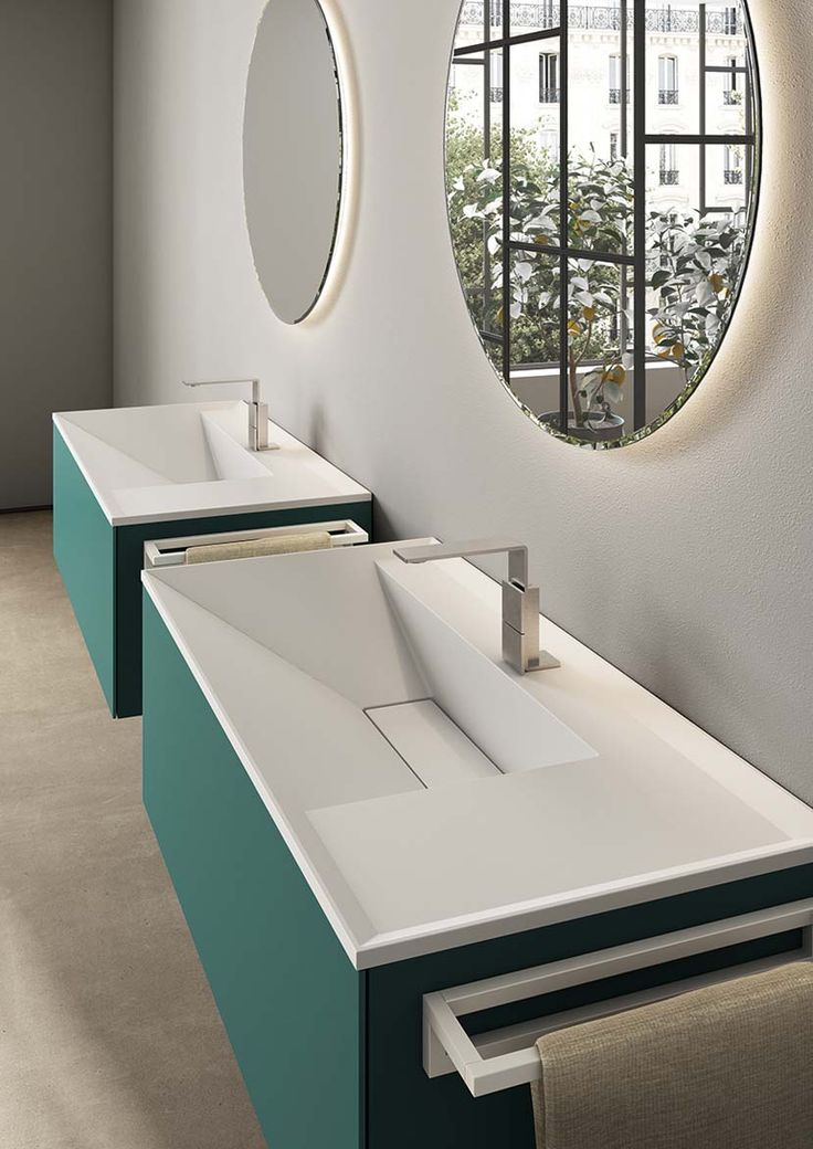 Dogma d.05 washbasins from Alternative Bathrooms are an integrated countertop concept. They are part of the new Dogma modular bathroom system which melds Italian style with a Zen-like focus on harmony and balance alternativebathrooms.com