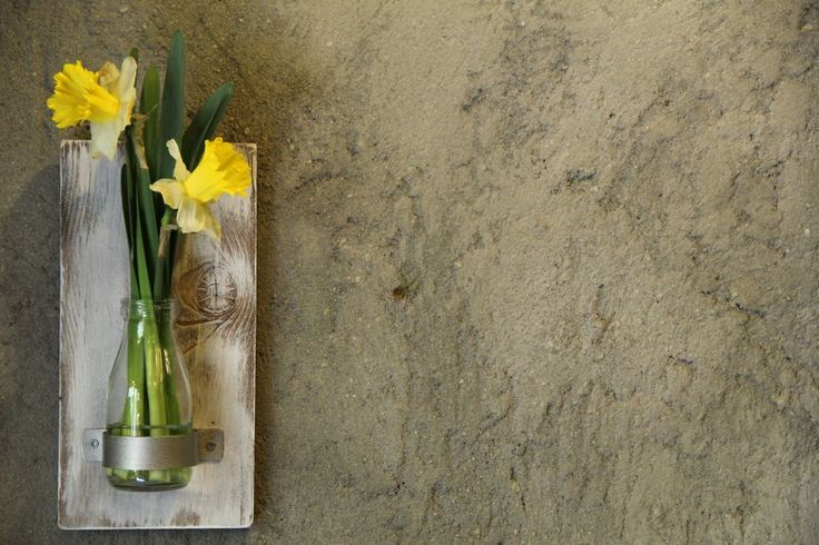 Vazo / Çevre Dostu Dekoratif / Süt Zet.com'da 59 TL DIT  Glass Bottle & Wood Vase Recyhle