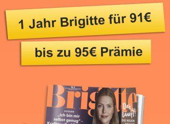 """Knaller: Brigitte im Jahresabo für 86 Euro mit Gutscheinen über 98,88 Euro https://www.discountfan.de/artikel/lesen_und_probe-abos/knaller-brigitte-im-jahresabo-fuer-86-euro-mit-gutscheinen-ueber-9888-euro.php Beim Leserservice der Deutschen Post gibt es jetzt für kurze Zeit die """"Brigitte"""" im Jahresabo für 86 Euro. Das Besondere dabei: Discountfans erhalten Gutscheine und Payback-Punkte im Gegenwert von 98,88 Euro. Knaller: Brigitte im Jahresabo für 86 Euro"""