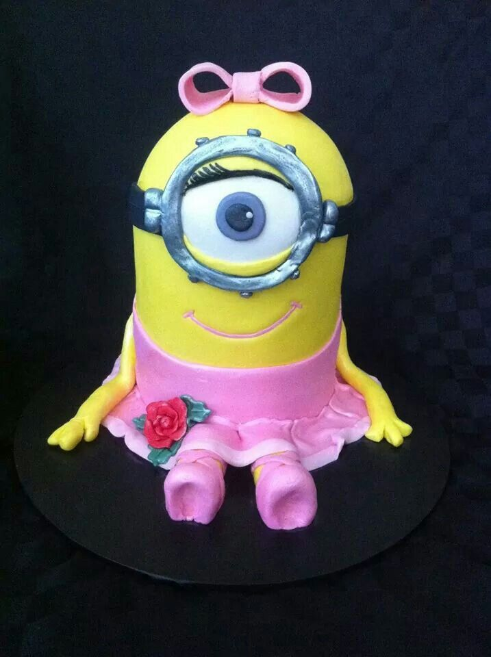 A Girl Minion Cake Omg Love It Have Your Cake And Eat