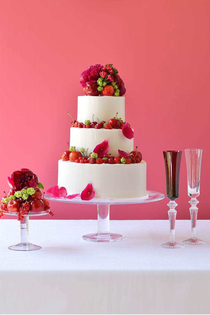 #NOVARESE #weddingcake #pink #white #red #green #flower