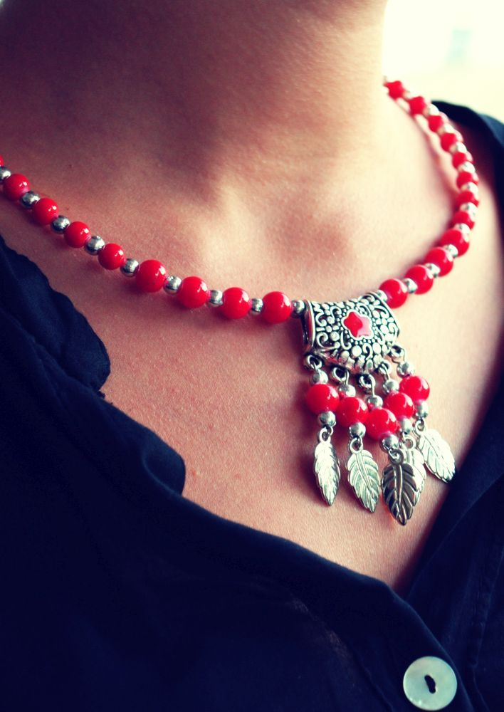 Boho Love Red Necklace