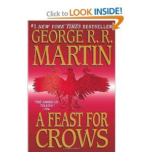 A Feast for Crows (A Song of Ice and Fire 4) - This book continues from the last book and I don't want too many spoilers on here but generally these books are fantastic.  The book focuses on the Seven Kingdoms and The Wall.