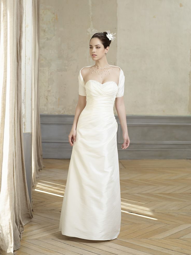 collection year 2014 dress length floor length long neckline sweetheart silhouette straight sleeve style sleeveless strapless train no train - Point Mariage Collection 2014