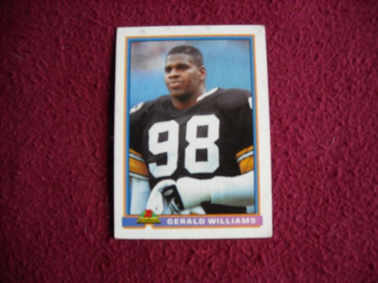 Gerald Williams Card No. 449 Pittsburgh Steelers NT Nose Tackle (FB449) Bowman Topps 1991 Football - for sale at Wenzel Thrifty Nickel ecrater store