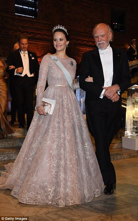 Princess Sofia of Sweden and Barry C.Barish, laureate of the Nobel Prize in physics