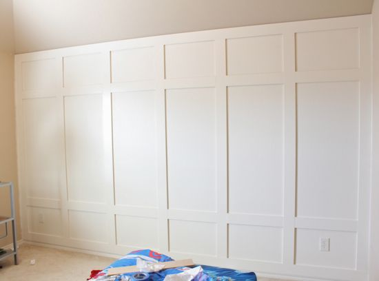 paneled wall diy.... so simple and $40!!!: Dining Rooms, Cheap Decor Diy Bedrooms, Living Rooms, Basements Wall Ideas, Diy Panels, Wainscoting Ideas Bedrooms, Boys Rooms, Panels Wall, Accent Wall