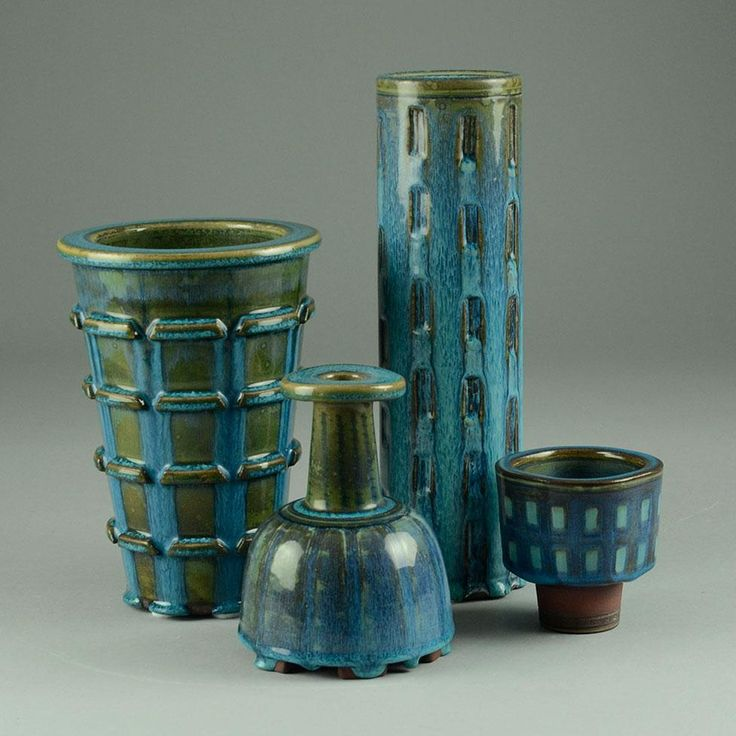 Wilhelm Kåge for Gustavsberg group of Farsta vases