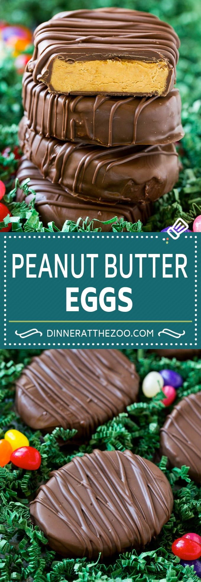 Peanut Butter Eggs | Reese's Eggs | Homemade Peanut Butter Cups | Easter Dessert Recipe