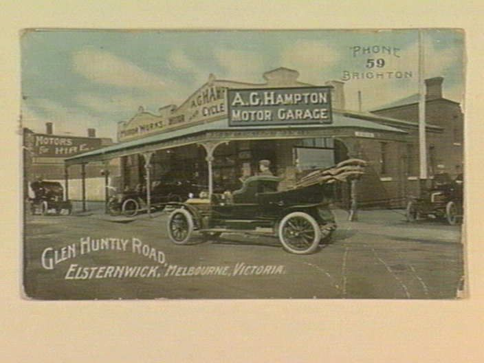 A. G. Hampton Motor Garage, Glen Huntly Road, Elsternwick, Melbourne, Victoria. [picture] , State Library of Victoria