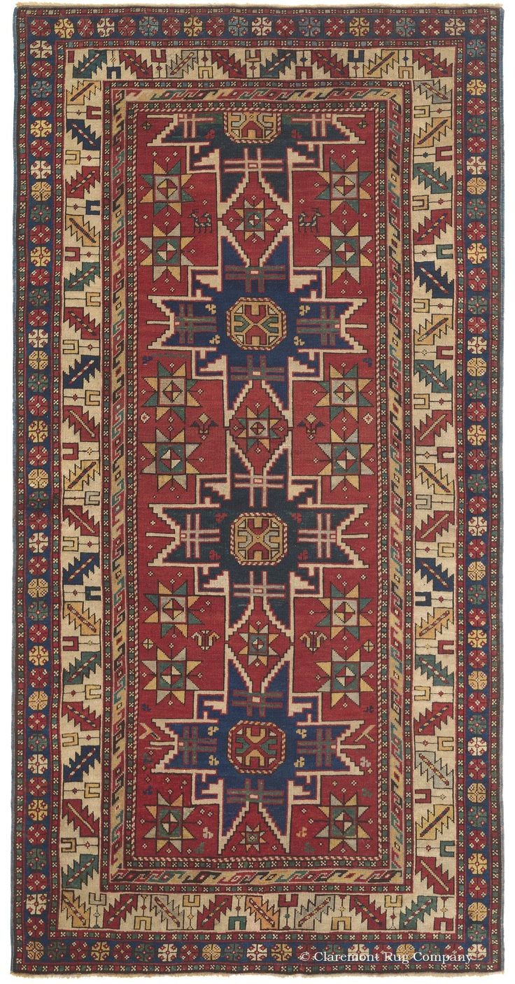 Antique Rug with Eight-Pointed Star Motif