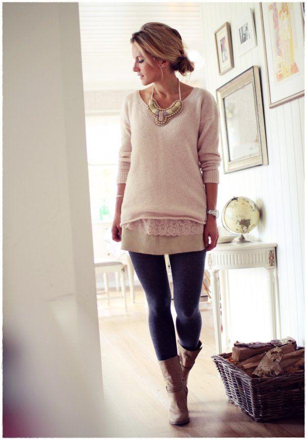 Statement necklace + knitwear   @Kalastajan vaimo
