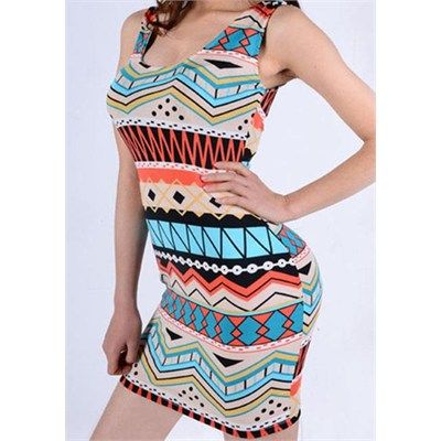 One Size Printed Bodycon Dress $10.79