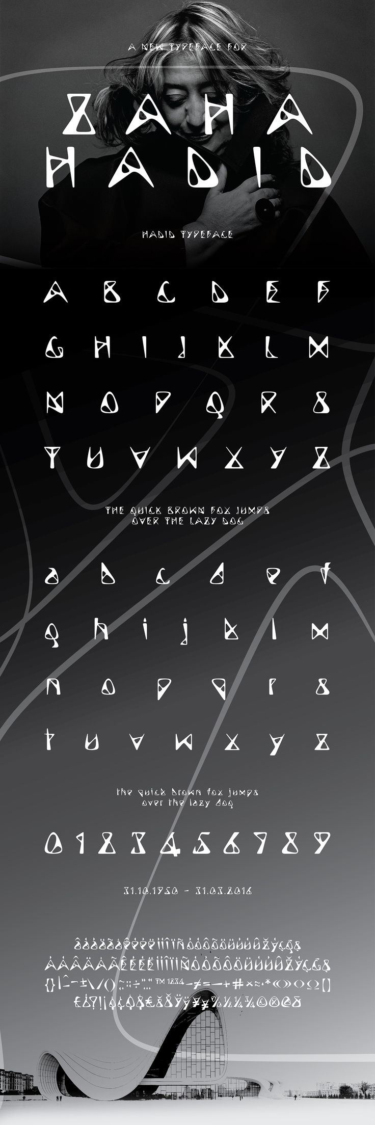 Hadid Typeface on Behance