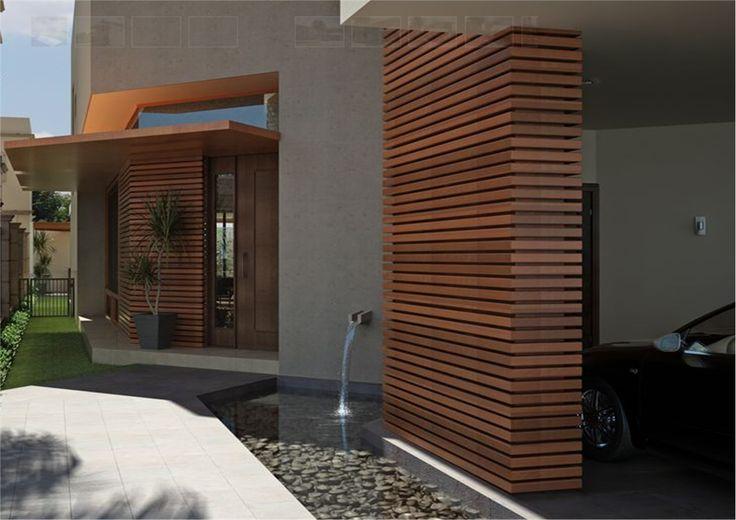 52 best casas modernas images on pinterest modern houses for Casa moderna exterior