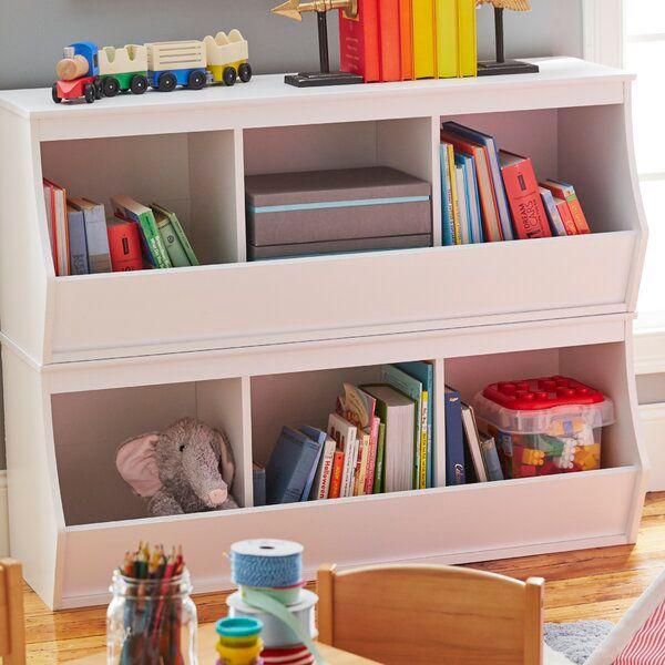Leonor Stacked 6 Bin Storage Cubby Toy Organizer Living Room Storage Kids Storage Cubby Storage