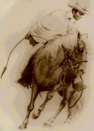 Chalán con caballo de paso peruano - ?  Tengo este cuadro que me quedò de mi papà