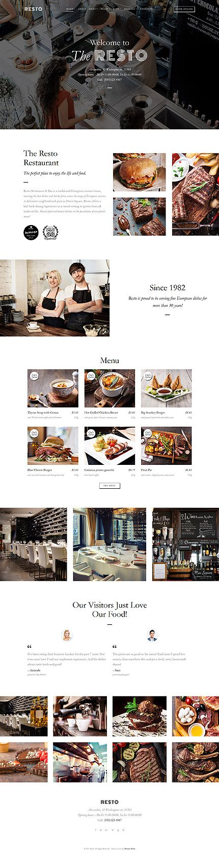 Template 62276 - Resto Restaurant  Responsive Website Template