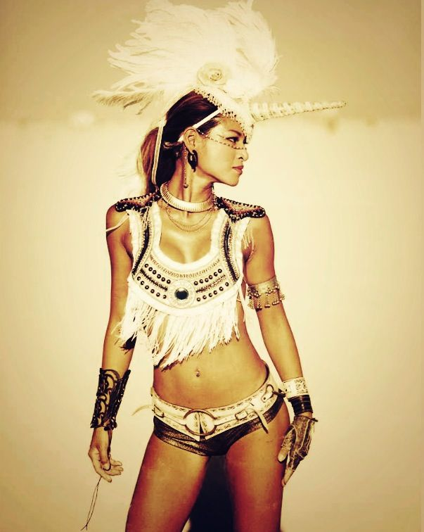 A perfect Unicorn burning man costume, I will see you there someday....
