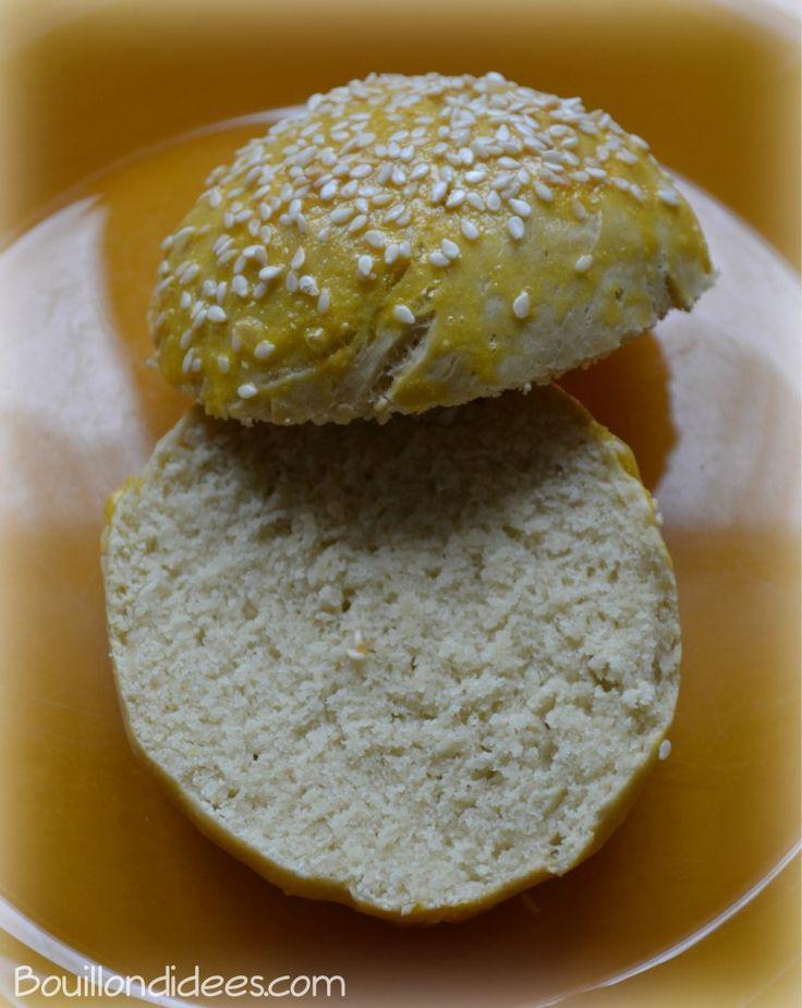 Pain à hamburger  maison sans gluten