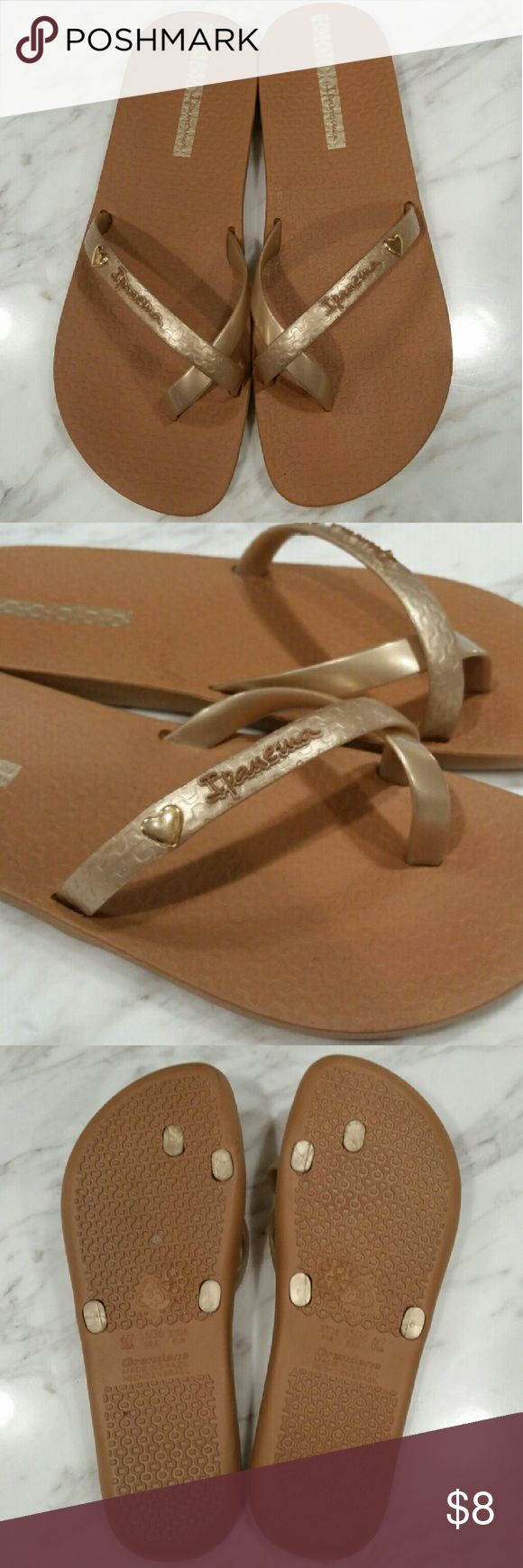Ipanema flip flops Ipanema 'Neo Hit' flip flops. Sizing is 6/7. New, never worn. Bundle for a discount! Ipanema Shoes Sandals