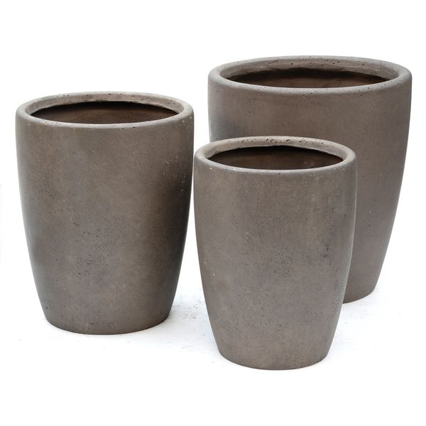Donica ogrodowa beton akryl M ŚR 34X43,5, Miloo Home - Wyposażenie wnętrz