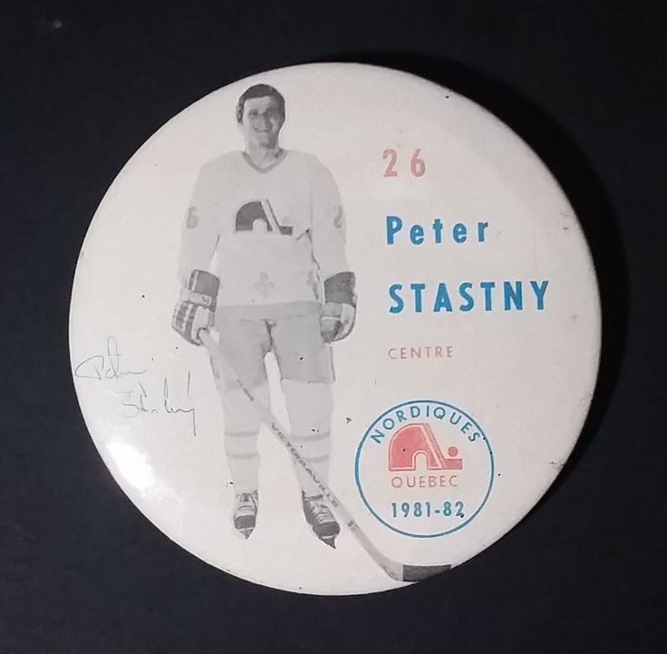 1981-82 Peter Stastny #26 Centre Quebec Nordiques NHL Hockey Collectible Button Pin https://treasurevalleyantiques.com/products/1980-81-peter-stastny-26-centre-quebec-nordiques-nhl-hockey-collectible-button-pin #Vintage #1980s #80s #Eighties #Peter #Stastny #Center #Quebec #Nordiques #NHL #Hockey #IceHockey #Sports #Collectibles #Canada #Bratislava #Czechoslovakia #ButtonPin #Pins
