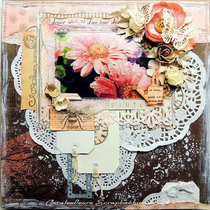Claralesfleurs Scrapbooking 2014 - page florale