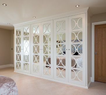 Mirrored Wardrobes With Fretwork Transitional Closet Yorkshire And The Humber Acastrian
