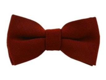 Amazon.com: Wool Solid Burgundy Self-Tie Bow Tie: Clothingp's bow tie