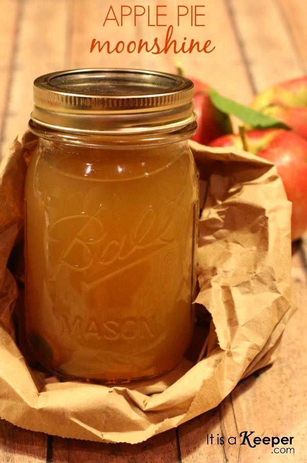 "Apple Pie Moonshine from It's a Keeper - ""packs a punch"" is right! After all of the preparation for your holiday feasts, sometimes a good ol' drink is a necessity! #happyholidays"